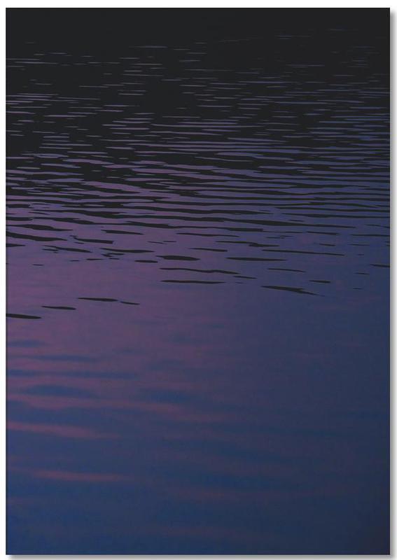Ozeane, Meere & Seen, Sonnenuntergänge, Abstract Waves -Notizblock