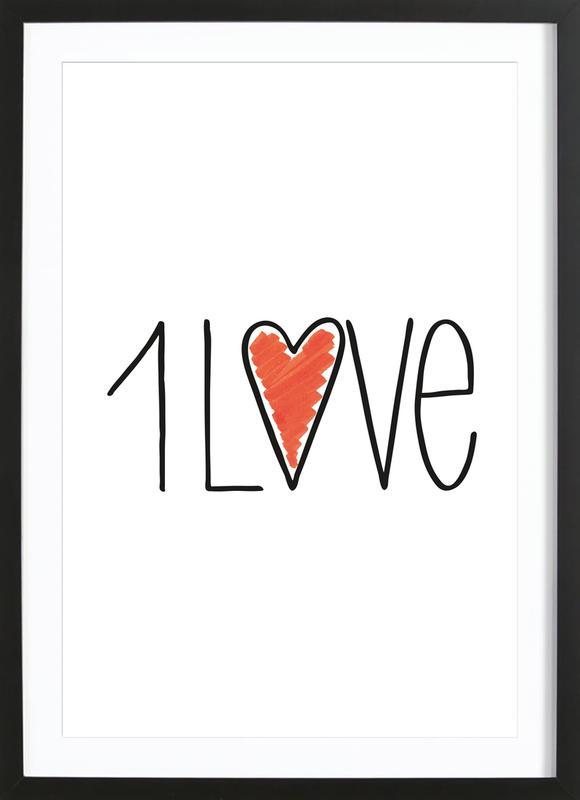 1Love Framed Print