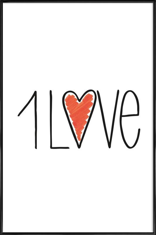1Love Framed Poster