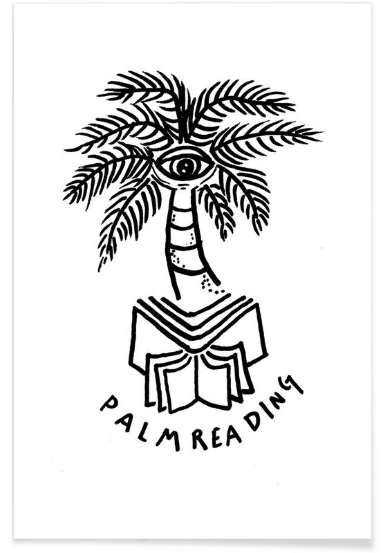 Palm Reading White Poster