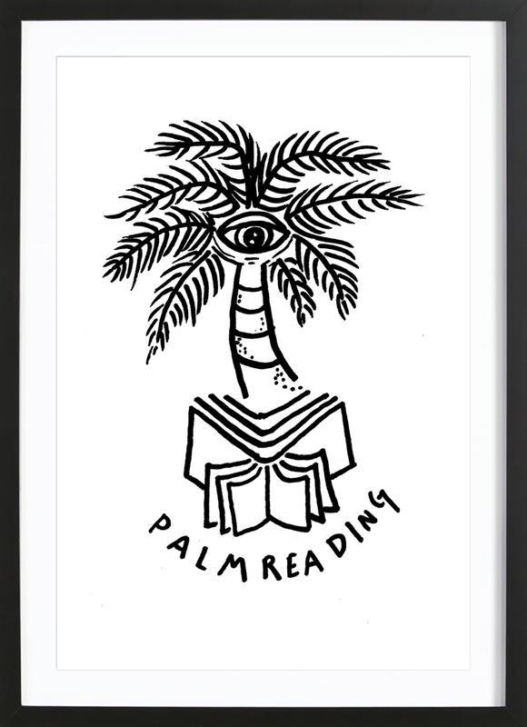 Palm Reading White Framed Print