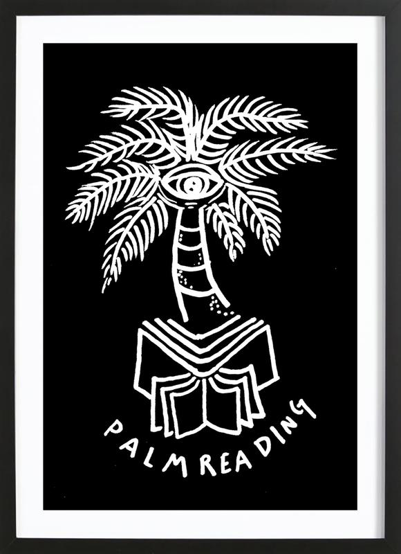 Palm Reading Black Framed Print