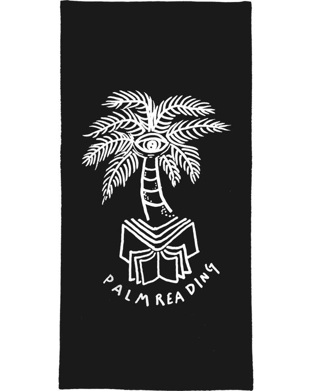 Palm Reading Black serviette de bain