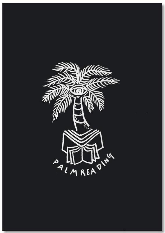 Palm Reading Black bloc-notes