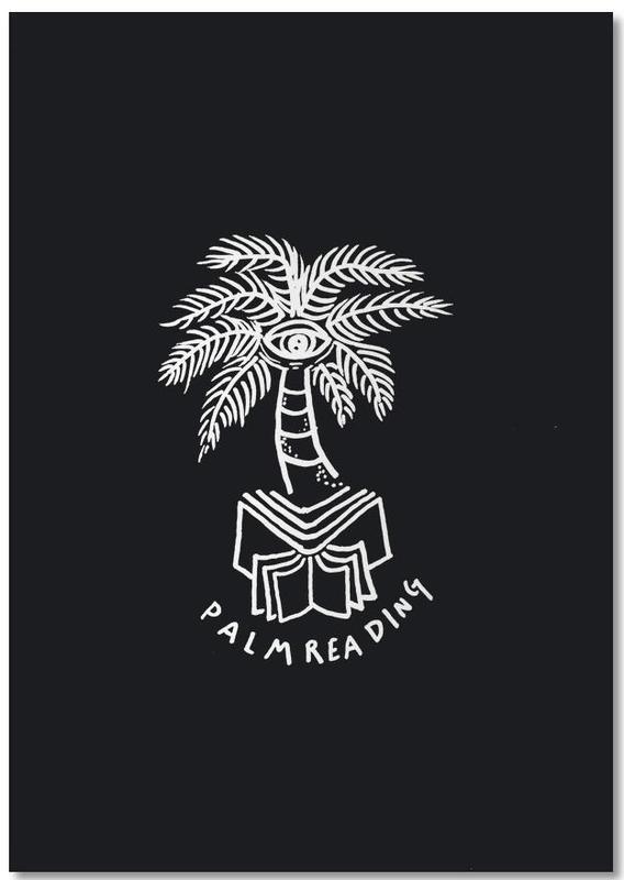 Palm Reading Black Notepad