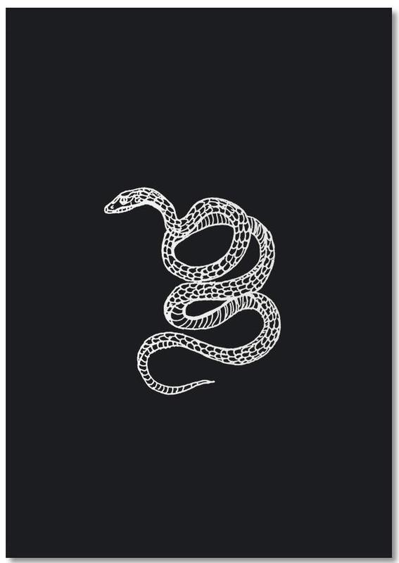 Snake Black Notepad