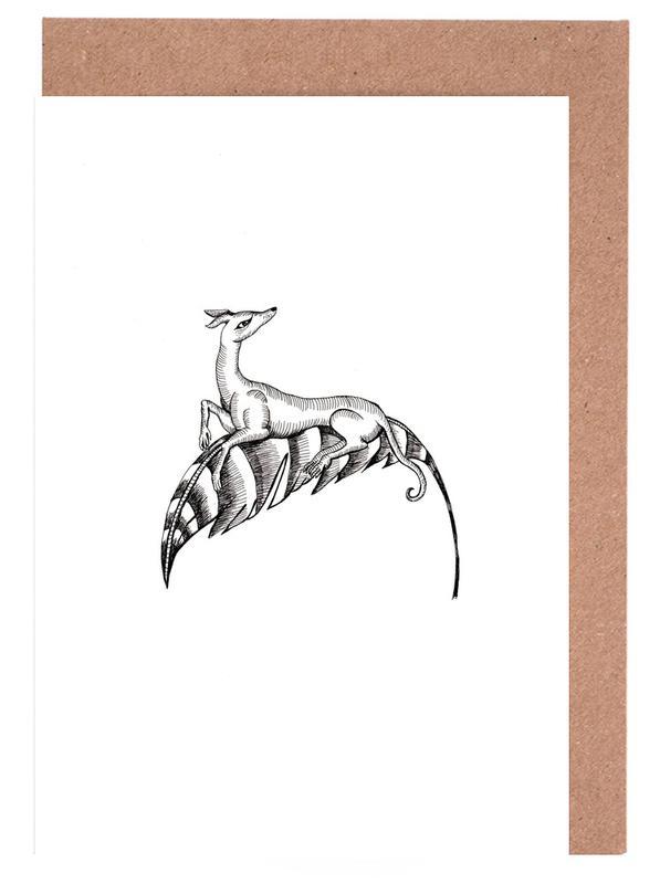 Noir & blanc, Street Art, Fly Dog White cartes de vœux