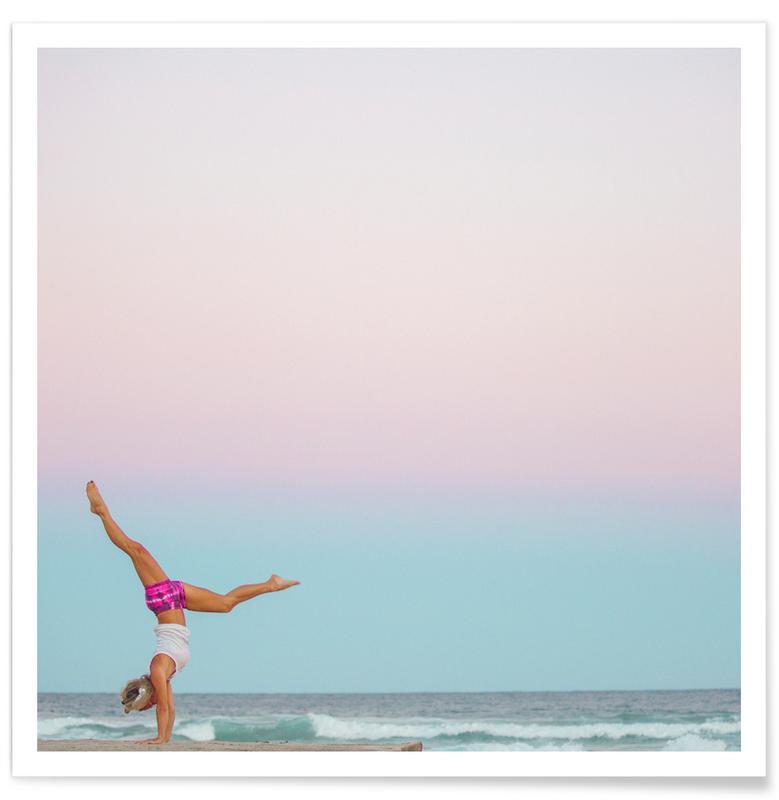 Beaches, Yoga, Beach Yoga Poster