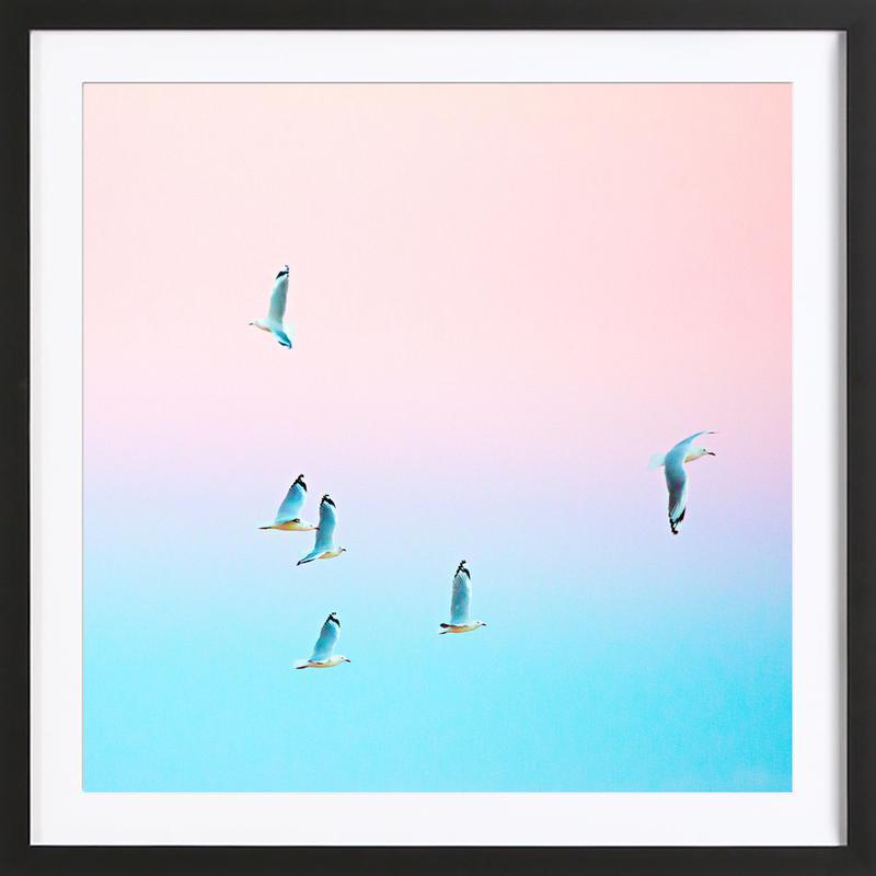 Pastgulls Framed Print
