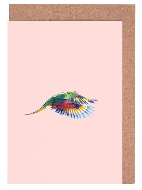 Perroquets, Pink Parrot 2 cartes de vœux