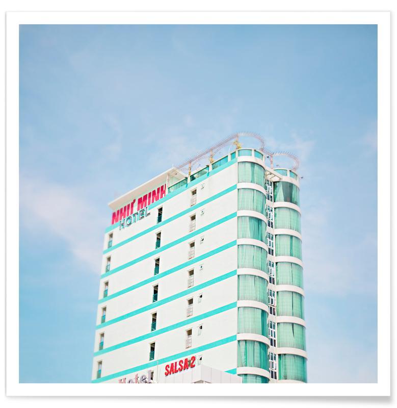 Détails architecturaux, Gratte-ciels, Danang affiche