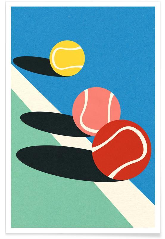 Art pour enfants, Tennis, 3 Tennis Balls affiche
