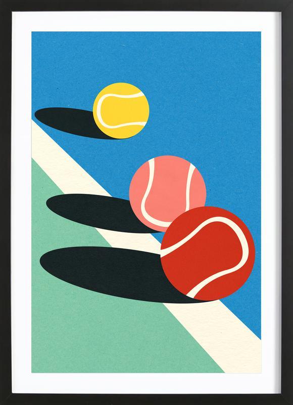 3 Tennis Balls ingelijste print