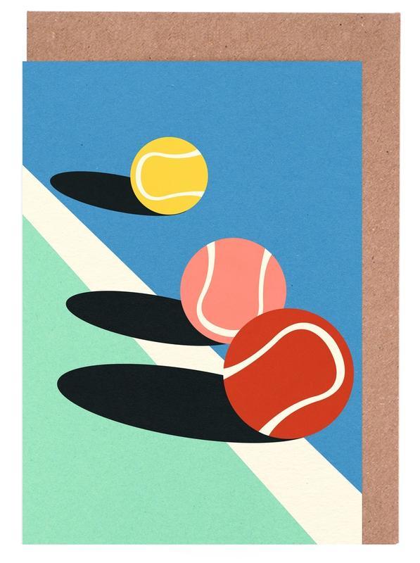 3 Tennis Balls -Grußkarten-Set