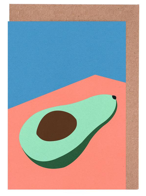 Avocado on the Table Greeting Card Set
