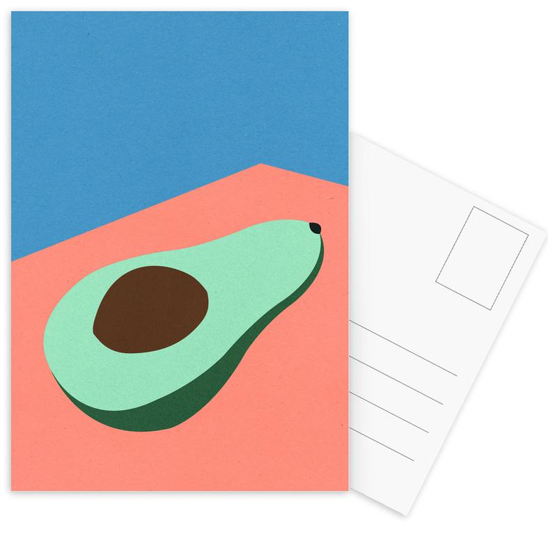 Avocado on the Table Postcard Set