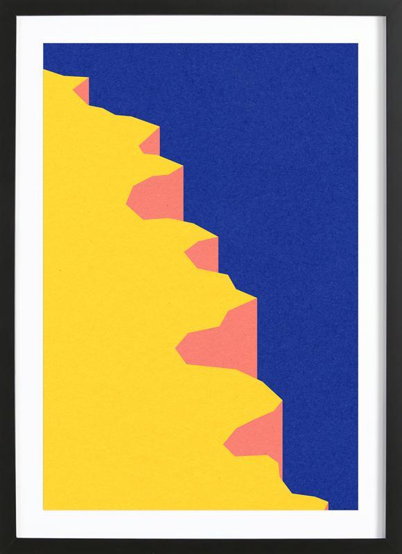 Big Sur V -Bild mit Holzrahmen