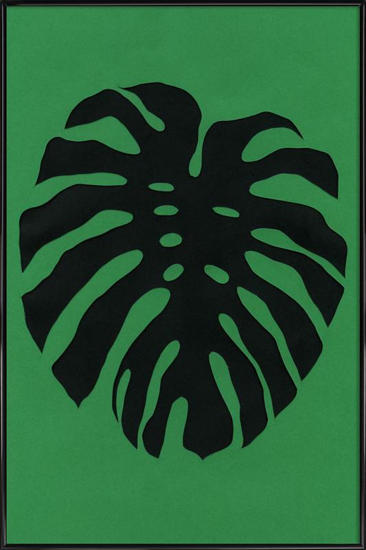 Black Monstera Framed Poster