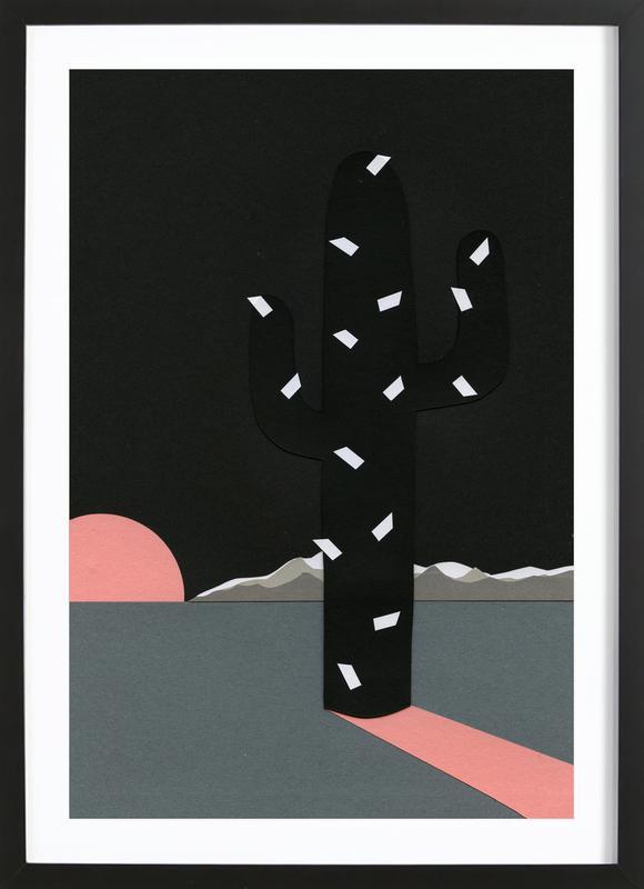 Black Sierra Nevada ingelijste print