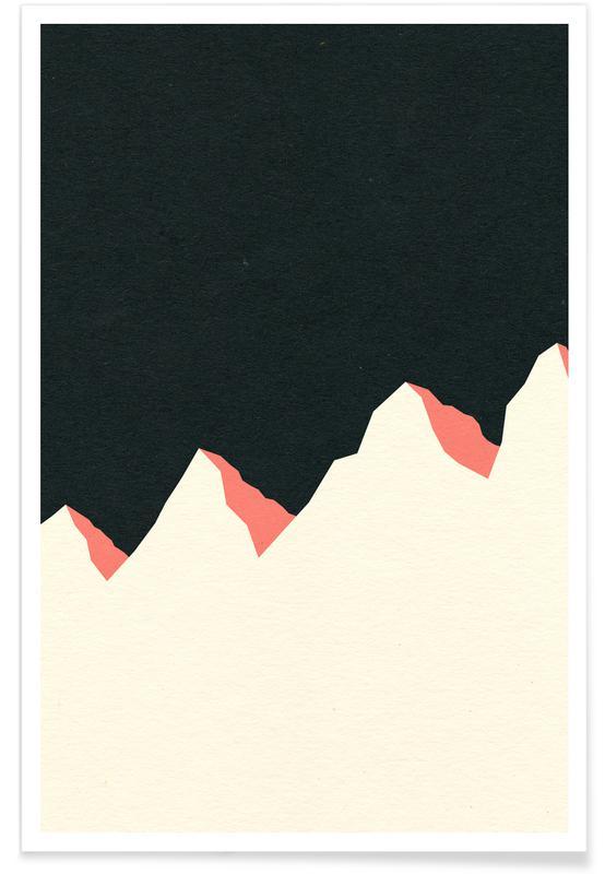 Dark Night White Mountains Poster