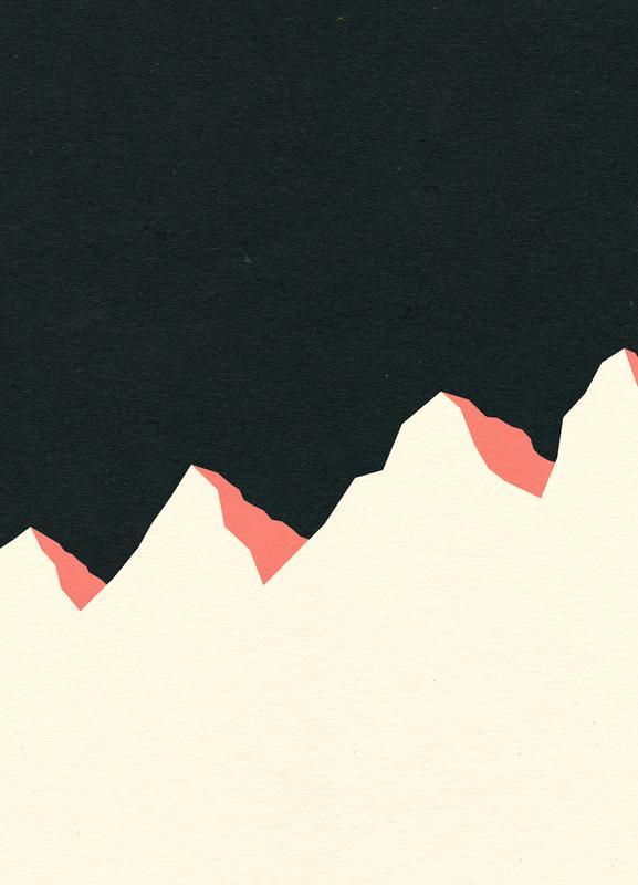 Dark Night White Mountains canvas doek