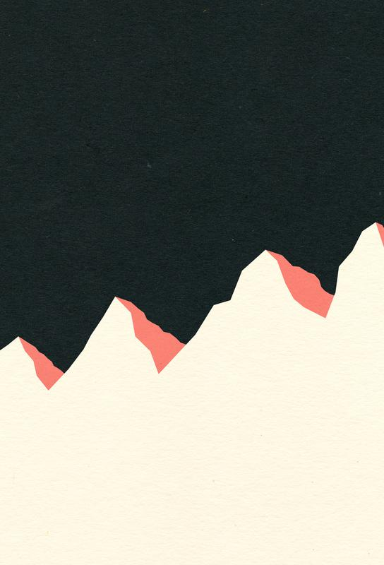Dark Night White Mountains Aluminium Print