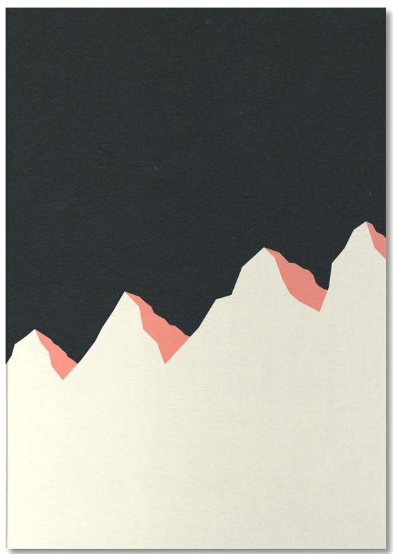 Dark Night White Mountains Notepad