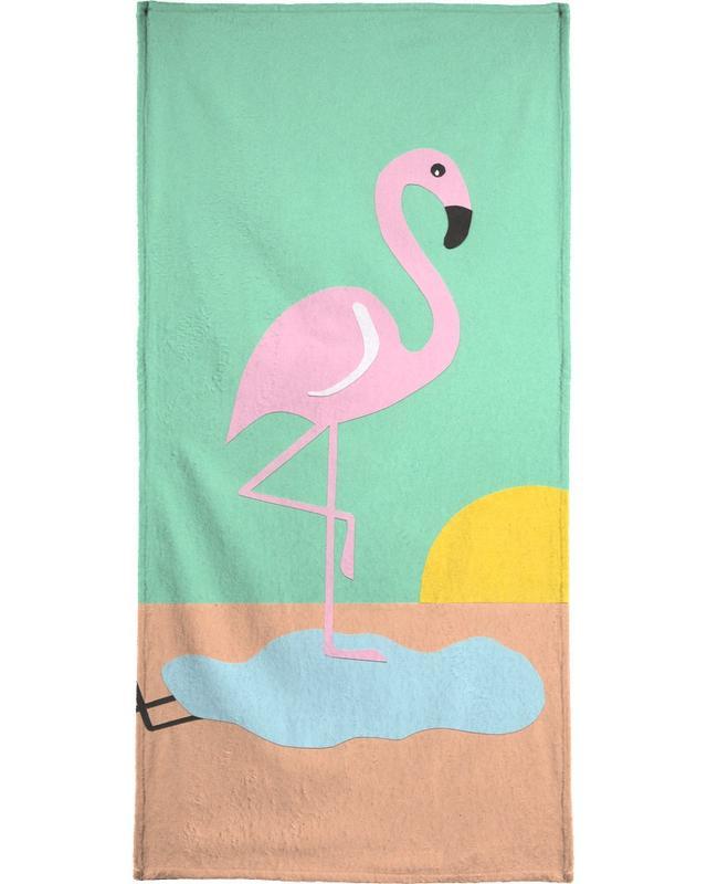 Flamingos, Kinderzimmer & Kunst für Kinder, Flamingo Herbert -Handtuch