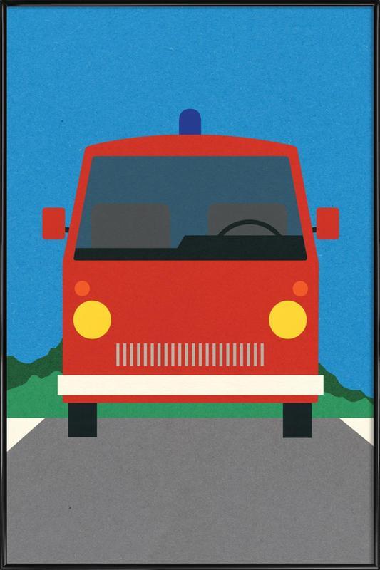 Fire Engine Framed Poster