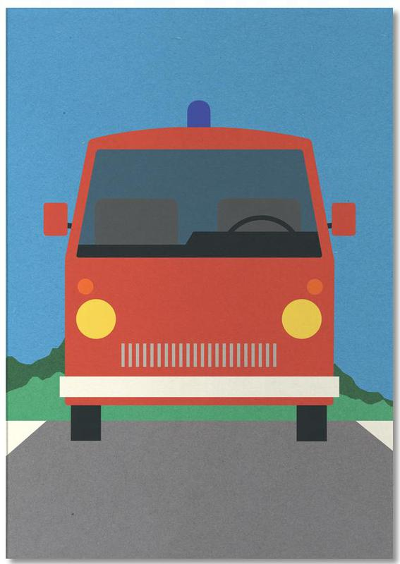 Fire Engine Notepad