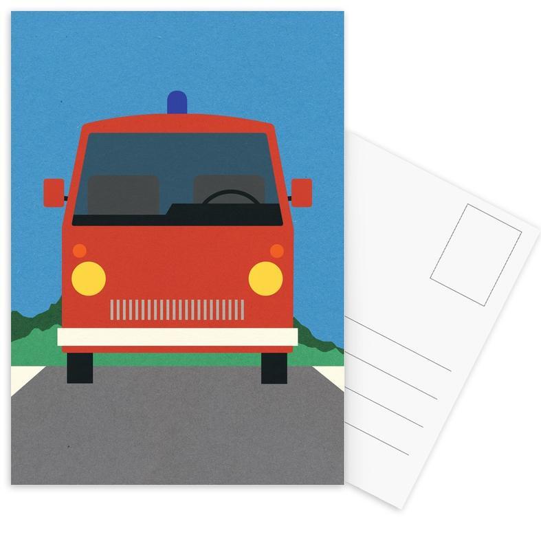 Fire Engine -Postkartenset
