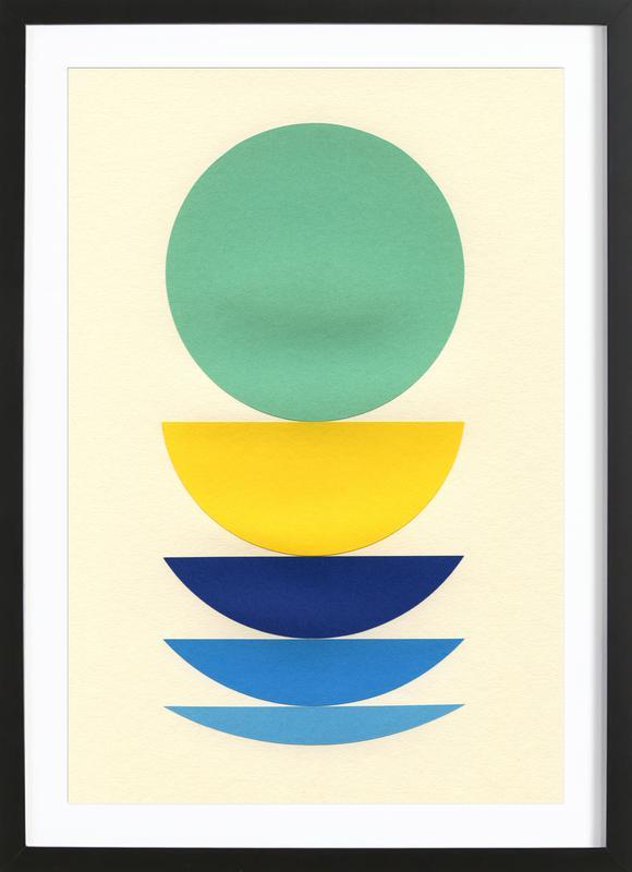 Five Circles -Bild mit Holzrahmen