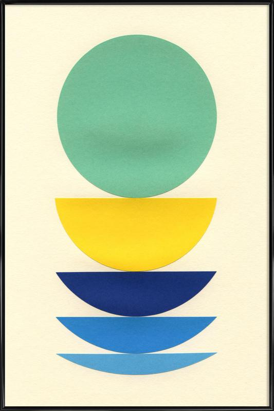 Five Circles -Bild mit Kunststoffrahmen