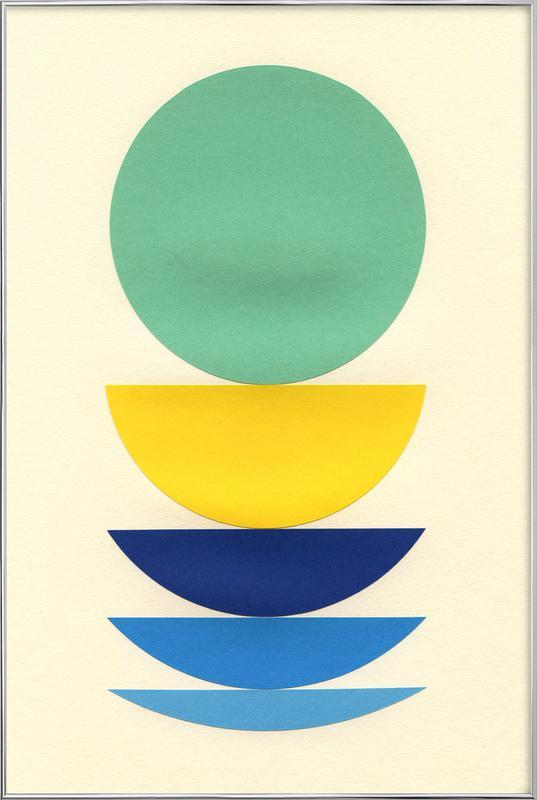 Five Circles Poster in Aluminium Frame