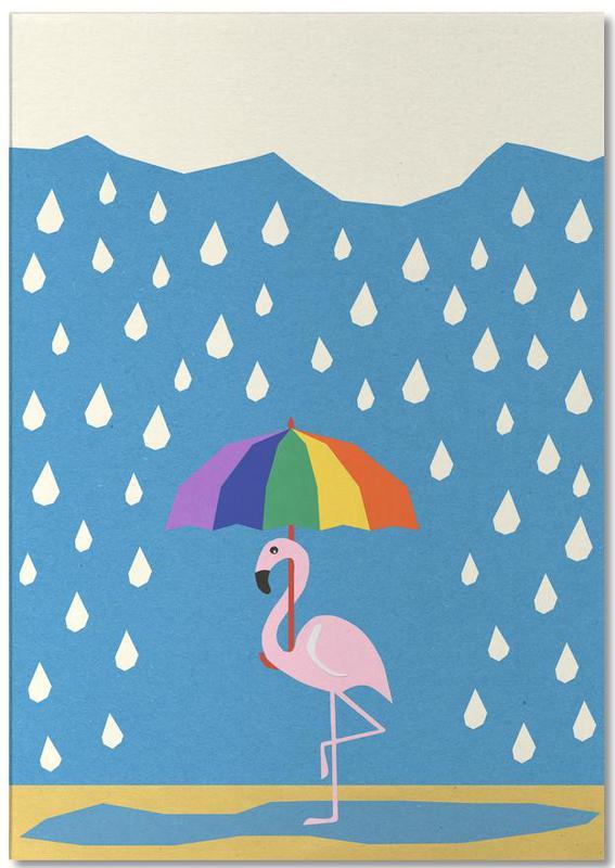 Flamingo de Umbrella Notepad