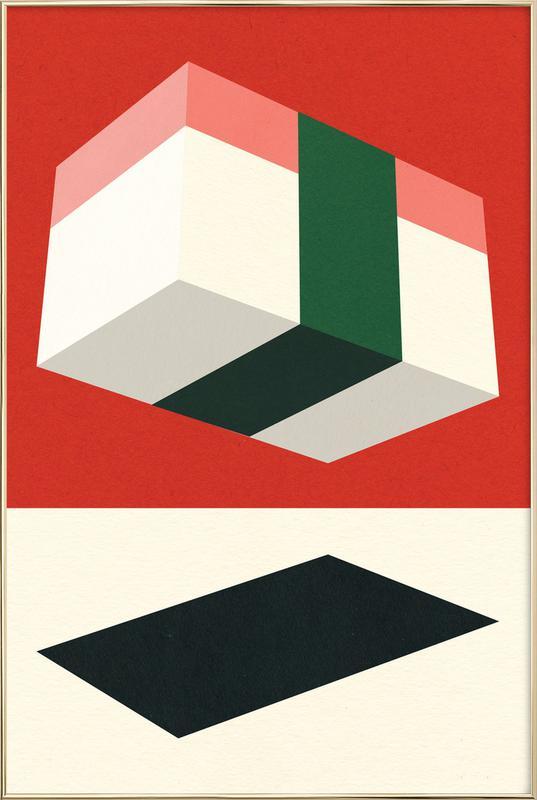 Flying Nigiri Poster in Aluminium Frame