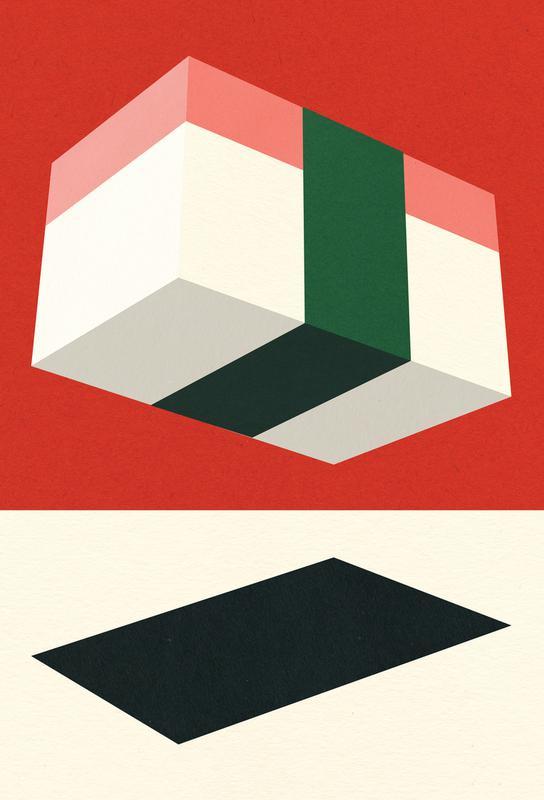 Flying Nigiri -Acrylglasbild