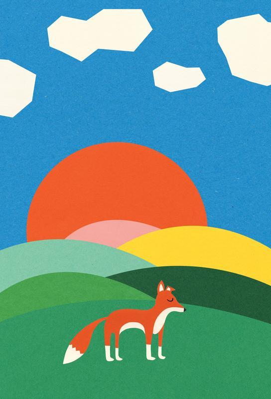 Fox and Field Aluminium Print