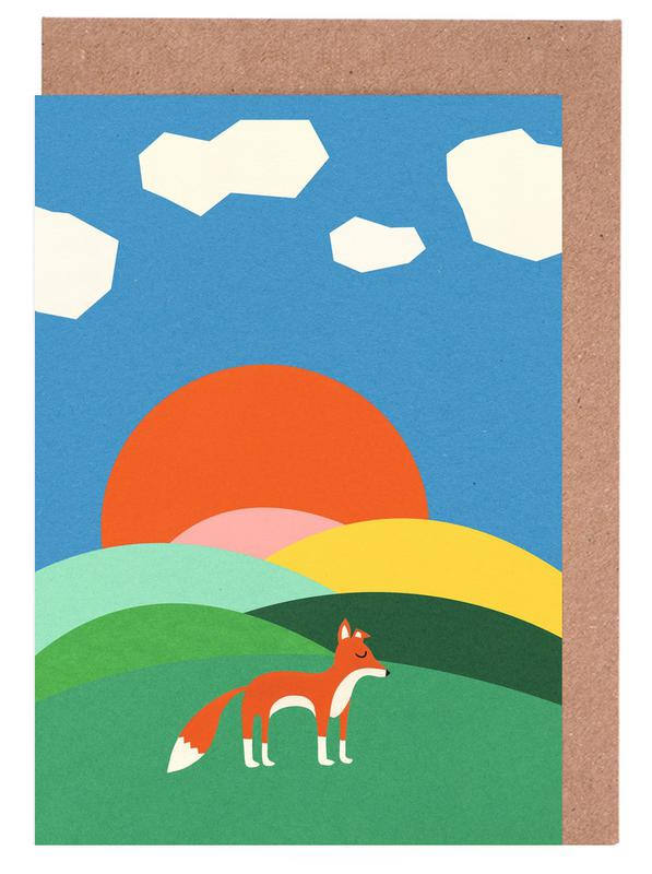 Fox and Field Greeting Card Set