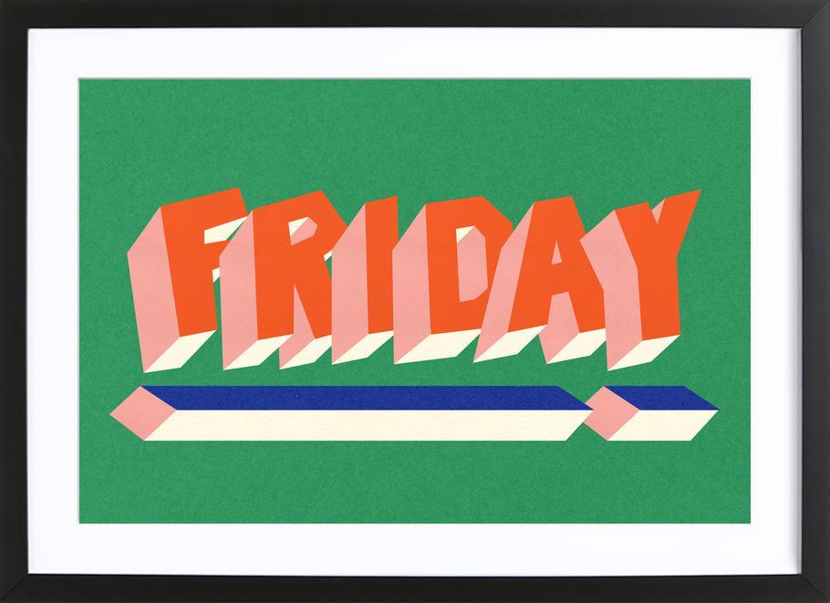 FRIDAY! -Bild mit Holzrahmen