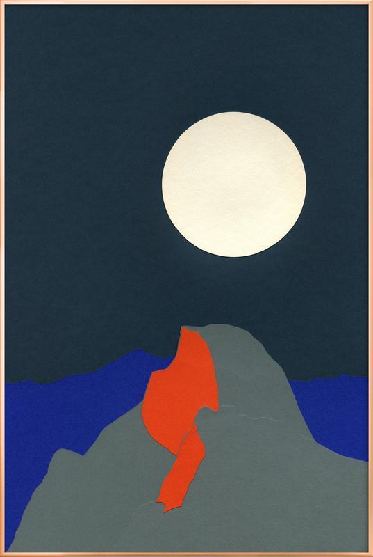 Half Dome -Poster im Alurahmen