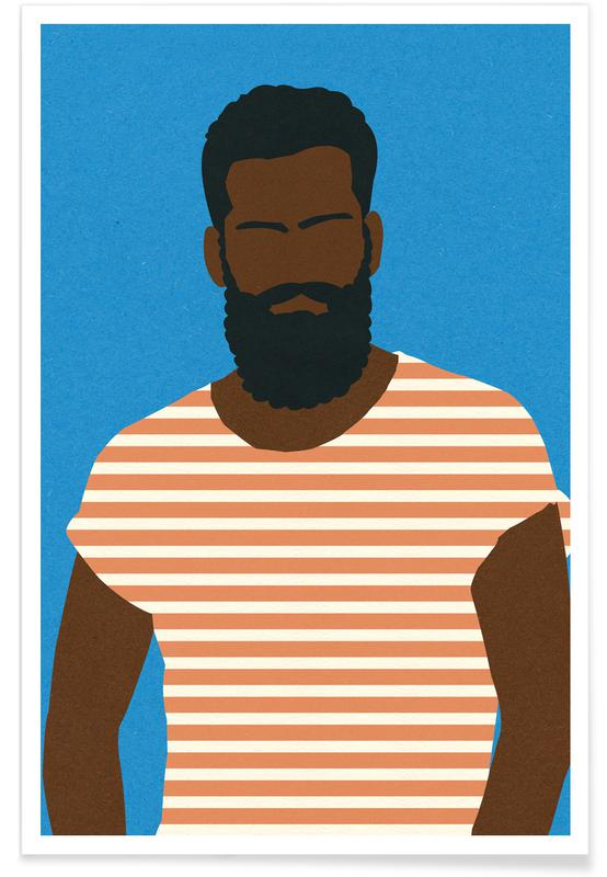 Man with Striped Shirt Poster