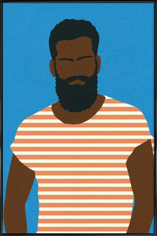 Man with Striped Shirt Framed Poster