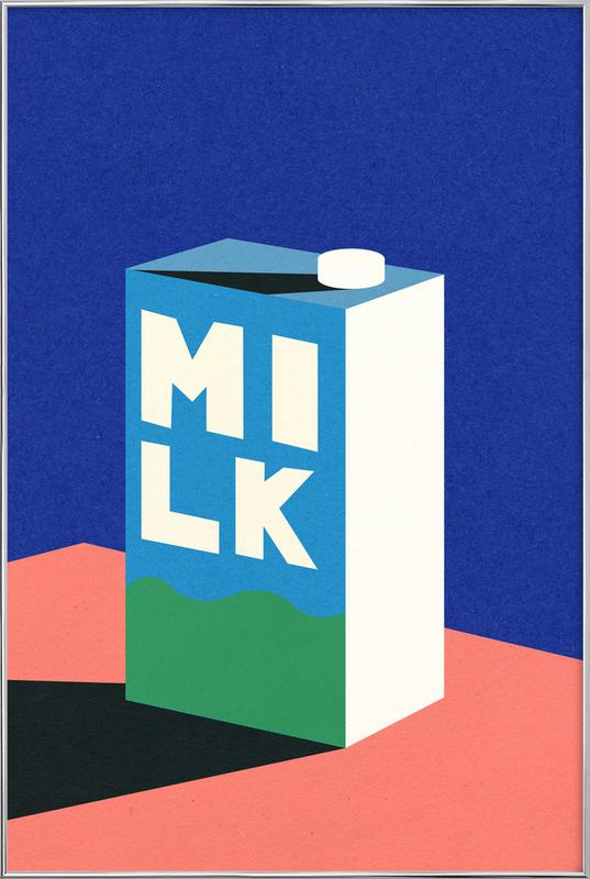 MILK -Poster im Alurahmen