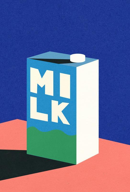 MILK Acrylic Print