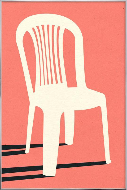 Monobloc Plastic Chair No I -Poster im Alurahmen
