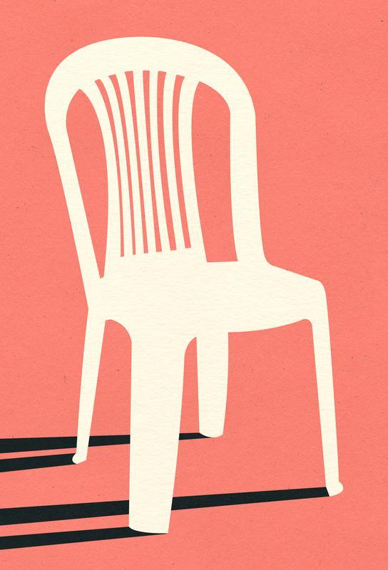 Monobloc Plastic Chair No I Acrylic Print