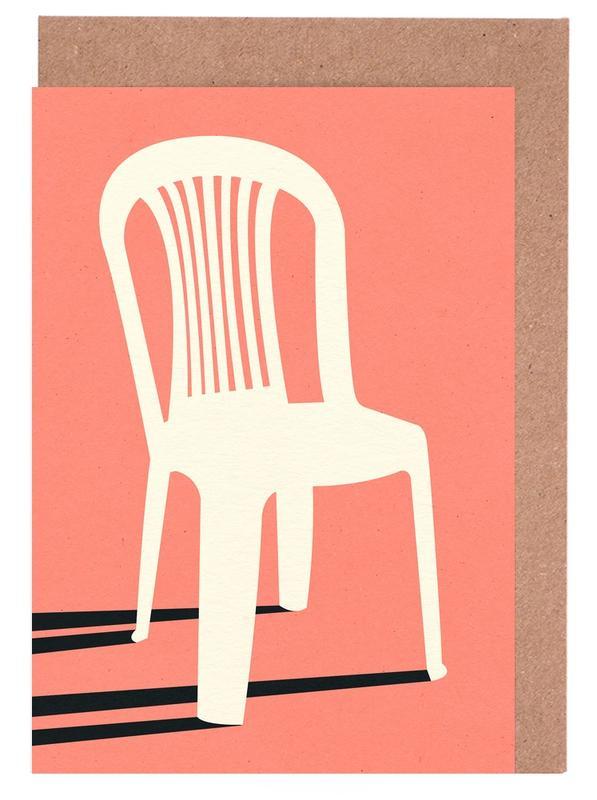 Monobloc Plastic Chair No I Greeting Card Set