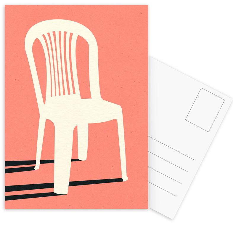 Monobloc Plastic Chair No I Postcard Set