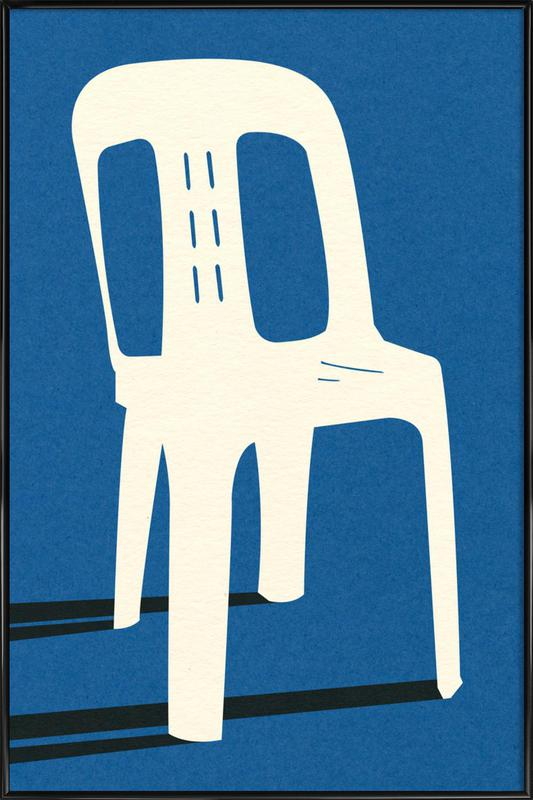 Monobloc Plastic Chair No II Framed Poster